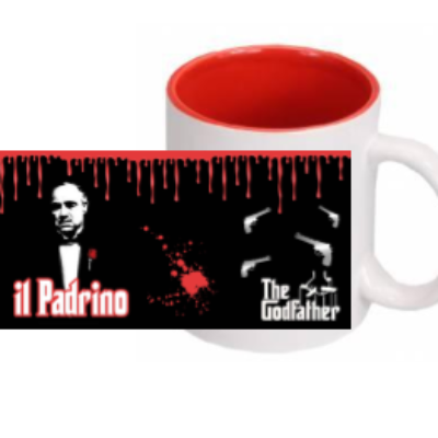 TAZZA SUBLIMATA FONDO COL. PADRINO GODFATHER  COD.