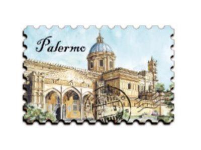 MAGNETE MDF FRANCOBOLLO PALERMO COD. 1385/1